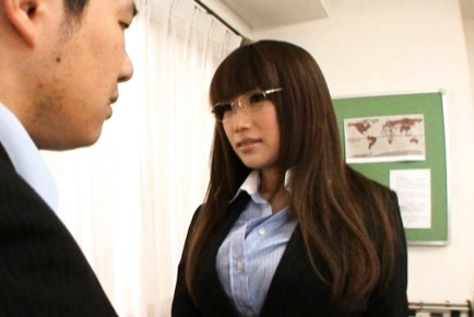 Kirara Kurokawa Japanese teacher sucks cock