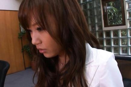 Nana Konishi Hot Asian teachher spreads her legs