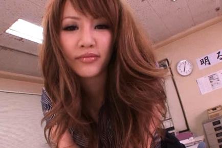 Kaera Uehara Naughty Japanese teacher enjoys her special classes