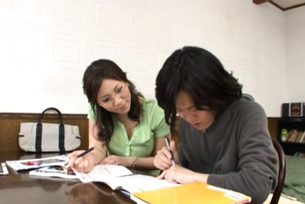 Mirei Yokoyama Sweet Asian teacher is a sexy milf