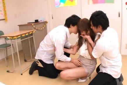 Arisa Sawa Japanese teacher has no panties on in class