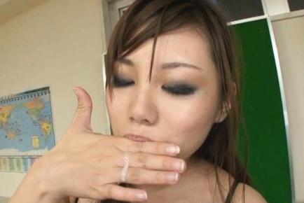 Kanon Ozora is a busty Asian teacher