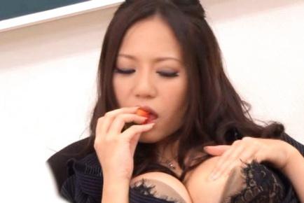Big Titted Ruri Saijo Masturbates For Her Students