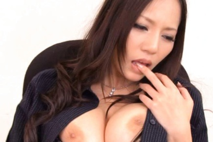 Big Titted Ruri Saijo Masturbates For Her Students