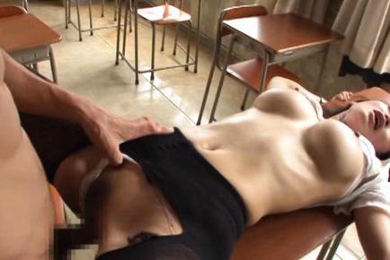 Busty teacher Reiko Kobayakawa´s rough sex with a student