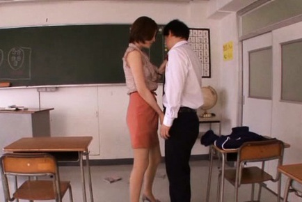 Horny Ai Haneda gives amazing oral stimulation