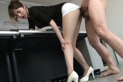 Sexy pantyhose of horny babe Miku Ohashi