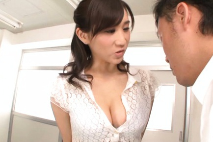 Japanese teacher Ki Hanyuu gets her big tits licked and fucked