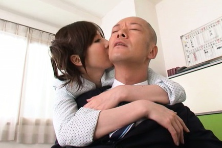 Sexy Asian teacher Yui Tatsumi fucks her horny boss
