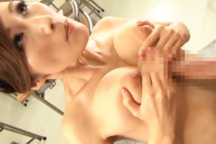 Tempting Asian teacher Julia gets her huge tits fucked