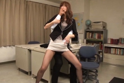 Sugary Japanese female teacher Ichika Kanhata in hardcore action