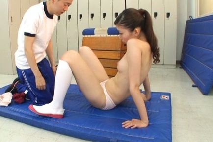 Hot sporty chick Natsumi Inagawa gets fucked by her horny coach