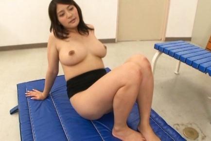 Sexy Japanese teacher Meguri seduces a cute guy gets her tits fucked