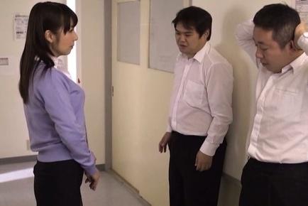 Hot blowjob with Japanese teacher, Kimika Ichijou, in heat